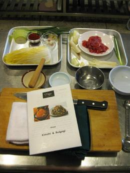 Menu and ingredients of my cooking class , Dace L - April 2014
