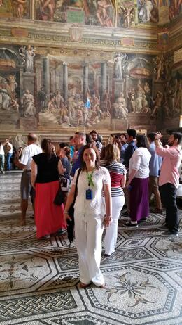 Photo of Rome Skip the Line: Vatican Museums Walking Tour including Sistine Chapel, Raphael's Rooms and St Peter's My wife during the Vatican Museum Tour