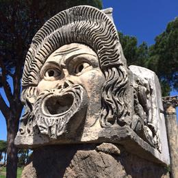 Photo of Rome Ancient Ostia Small Group Day Trip from Rome Ostica Antica theater carving