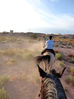 Photo of Las Vegas Wild West Sunset Horseback Ride with Dinner Riding out to the trails