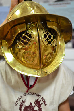 traditional style helmet, Jeff - July 2013