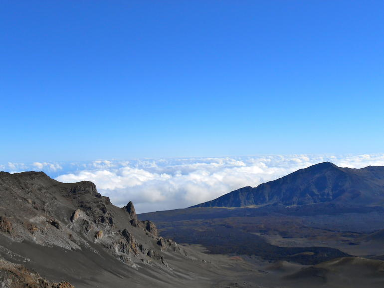 The view from Haleakala - cold but beautiful