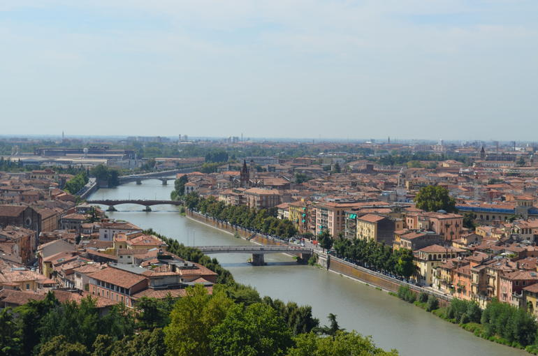 Verona from hillside - Verona