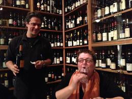Ursula and the waiter who poured our lovely wine :) , Kimberly B - November 2012