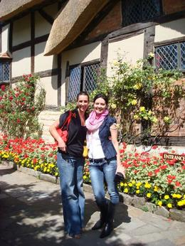Heidi and I at Anne Hathaway's Cottage - July 2008