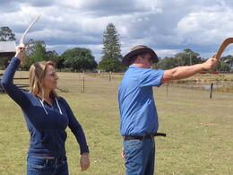 Photo of Sydney Tobruk Australian Outback Experience including Aussie BBQ Lunch Boomerang lesson