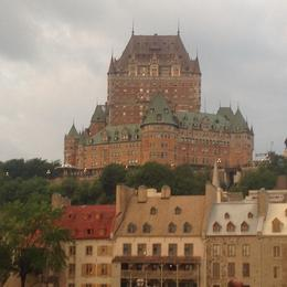 This is the major Hotel in old town Quebec City , swm1955 - July 2014