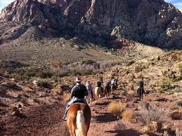 Photo of Las Vegas Old Spanish Trail Horseback Ride with Lunch Into the trail