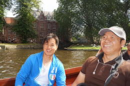 Enjoying the informative canal cruise with my companion , Raymond G - September 2012