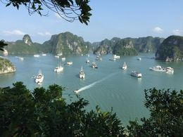 View from peak of Soi Sim island. one of the many islands @Halong Bay , nonya - June 2016