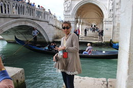 My wife in Venice by one of the canals , Michael N - October 2015