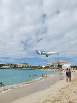 Photo of St Maarten St Maarten Shore Excursion: Island Sightseeing Tour from Philipsburg Planes landing over beach