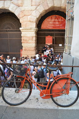 Photo of   Queuing outside L'Arena