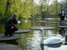 There are many opportunities to prevent an overload of impressions. Here Ana enjoys a quiet moment with the swans., Sieghart D - June 2009