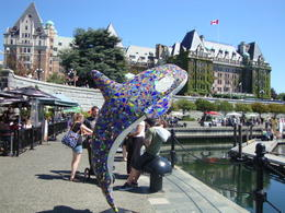 Photo of Vancouver Vancouver to Victoria and Butchart Gardens Tour by Bus The Empress hotel from the port, Victoria