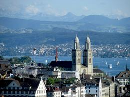 Overlooking lake Zurich with the towers of the Gross Munster church. , Bonnie M - July 2014