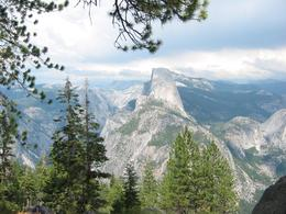 View of Half Dome from a lookout about, Global Nomad - April 2008