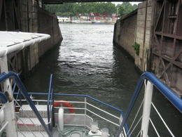 Photo of Paris Seine River Cruise and Paris Canals Tour A lock on the canals of the Siene