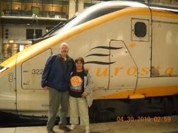 Photo of London Budget Independent Rail Tour to Paris by Eurostar Deb and Chuck in Paris train station