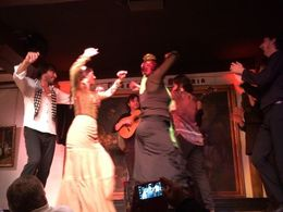 All flamenco dancers performing together, SCV - February 2015
