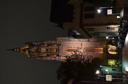 Night picture of the cathedral. Lights illuminate the church tower after dark. , David Lally - December 2014