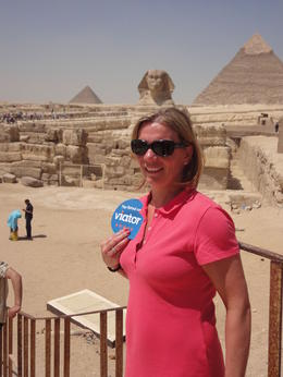 Photo of Cairo Private Tour: Giza Pyramids and Sphinx In awe at Sphinx