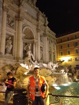 Night Segway tour, in front of the Trevi Fountain, AlexB - July 2012