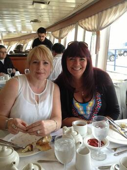 Me and one of my besties ready to celebrate my 50th birthday in style. , Fionna G - June 2013