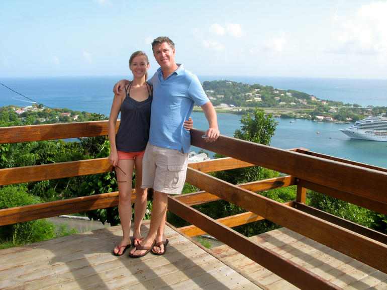 Scenic overlook in St. Lucia - St Lucia