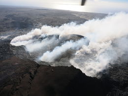 Photo of   Steam vents at the Pu'u O'o Crater
