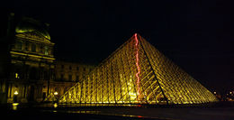 Photo of Paris Paris Night Bike Tour The Lourve at night.