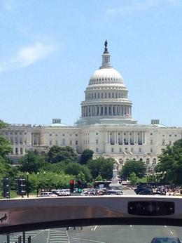 Great shot from the tour bus of the Capitol Building , Mary D - June 2014