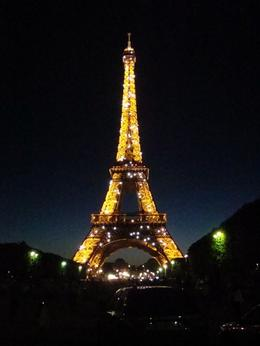 This was our last stop on our bike tour. We rode up to the Eiffel Tower right as they had her all glittered up. Perfect way to end our experience!, Kathleen S - July 2010