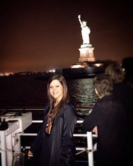 This is my Granddaughter Elyssa as we circled Lady Liberty in the Harbor! , Susan C - December 2015