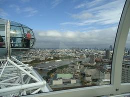 A view of The Thames and part of London from The Eye on a bright sunny day!, Judith C - December 2010