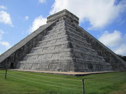 Photo of Cancun Viator Exclusive: Early Access to Chichen Itza with a Private Archeologist Man made mountain from the side