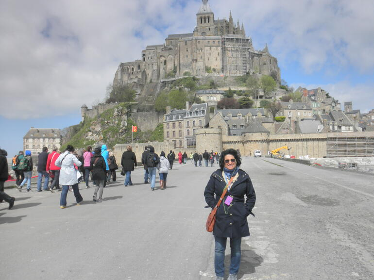 my husband took this picture going to the Mont Saint Michel - Paris