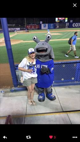 All decked out and even got to meet the mascot!! , Megan M - June 2016