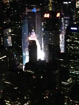 Times Square in all it's glory as seen at midnight - 1am from atop the Empire State Building. , Andrea S - August 2014