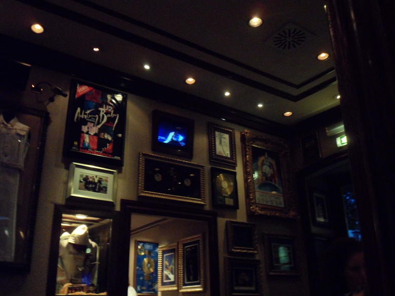 One of the walls in the cafe. - Rome