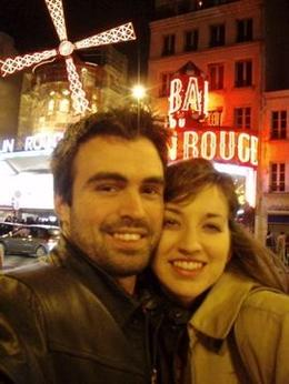 Photo of Paris Moulin Rouge Show Paris Outside the Moulin Rouge before the Feerie show