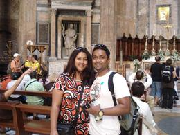 Myself and hubby at the Pantheon, Patricia F - October 2009