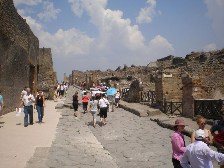 A main street in Pompeii - Naples