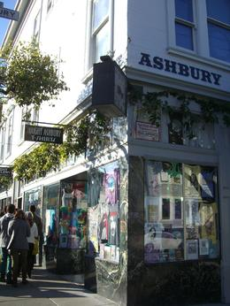 Hippie type shop at corner of Haight and Ashbury Streets, San Francisco, skigirlsf - December 2011