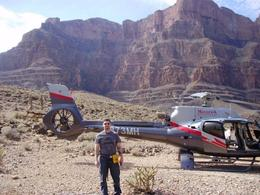 My buddy Ryan next to our Maverick helicopter. , Craig J - March 2014