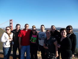 Group picture before crossing back over the Golden Gate Bridge. , Dubble312 - March 2012