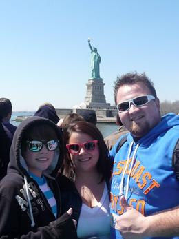 Photo of   Passing by the statue of liberty with plenty of time for pictures.