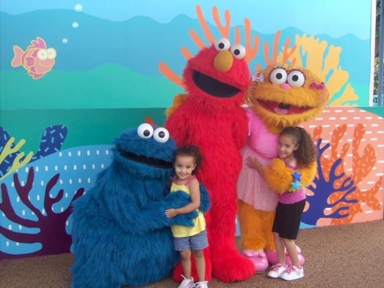 Seseame Street Characters at SeaWorld - San Diego