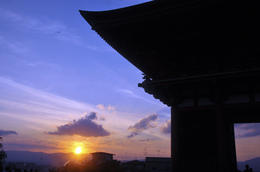 We were able to view the beautiful sunset from Kiyomizudera temple. , Andrew W - October 2014