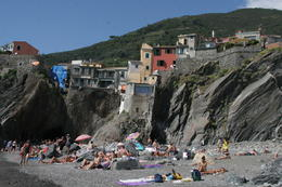 The cave passage and beach in Vernazza , laurieesser - September 2013